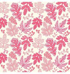 Seamless pattern on leaves theme autumn seamless vector  by Markovka on VectorStock®