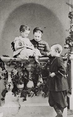 Three of the children of Tsar Alexander II of Russia and Empress Maria…