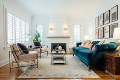 The designers at cityhomeCOLLECTIVEwere asked to update the interior of this Tudor home for clients whose style preference isa blend of classic antiques, glam, and mid-century modern. The resulting