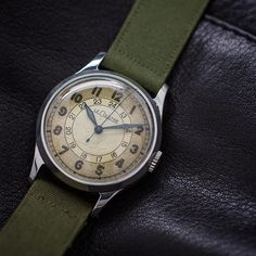 d9d06e56909 Lecoultre 24 hour military circa 1940 s. Stk by wannabuyawatch from  Instagram http