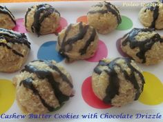 Cashew Butter Cookies with Chocolate Drizzle
