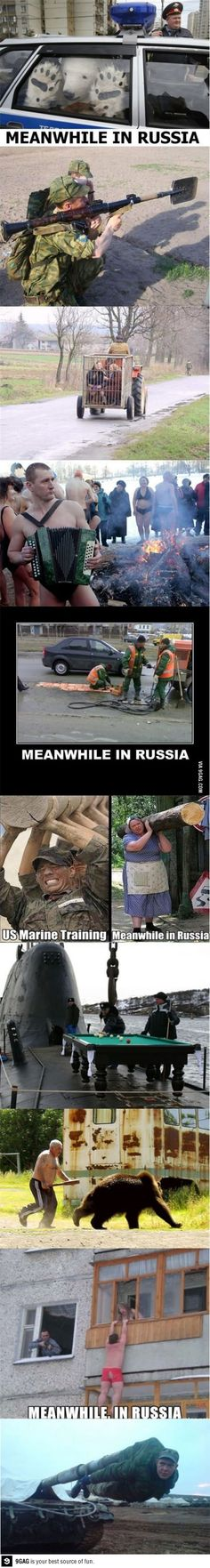 Meanwhile in Russia. Can we gooo ; Really Funny Memes, Stupid Funny Memes, Funny Relatable Memes, Haha Funny, Hilarious, Funny Images, Funny Photos, Military Jokes, Meanwhile In Russia