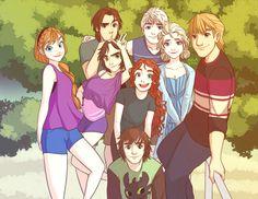 Yay Jelsa, Krisanna, merricup, and rapunzel and Flynn (forgot their ship name)