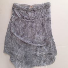 Free People strapless butterfly top size L Gently worn size large Free People top. Grayish blue with butterflies. Really cute with jeans Free People Tops