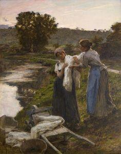 Départ des Laveuses, le Soir, 1892, Léon-Augustin Lhermitte