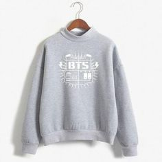 bf8ad9ee85e 2018 BTS Album Hoodie Female Sweatshirts Turtleneck BTS Print Long Sleeve  Womenmodkily Sweaters For Women