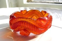 Heavily carved transparent HUGE bakelite bangle heart snake
