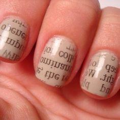 Newspaper nails! Love!