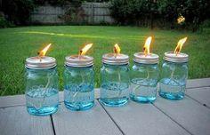 Kaila's Place | Mason Jar Citronella Mosquito Lamps