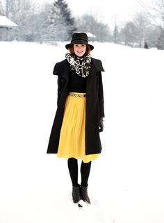 Love, love, love this look! The bright pop of yellow is perfect - What I Wore | On the Bright Side