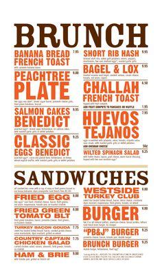menu style