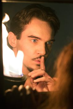 Jonathan Rhys Meyers smouldering on screen as Grayson in Episode 3 of Dracula TV Series - sky.com/dracula