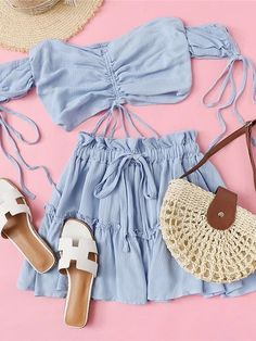 cute summer outfits for teens 47 Cute Summer Outfits For Teens, Cute Comfy Outfits, Girly Outfits, Comfortable Outfits, Classy Outfits, Pretty Outfits, Beach Outfits, Cute Summer Tops, Jugend Mode Outfits