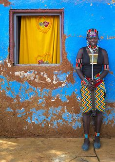 Bana Tribe Woman, Key Afer, Omo Valley, Ethiopia. By Eric Lafforgue.