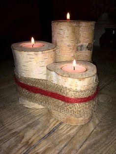 Houten kaarsenstandaards