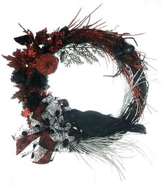 Halloween Crow Grapevine Wreath