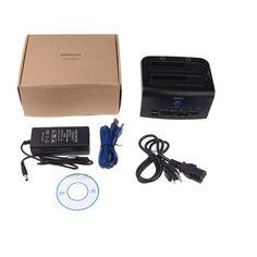 Tooploo 2.5 3.5 Dual SATA USB 3.0 HDD Dock Docking Station USB 2.0 Hub CF SD XD MS TF Card Reader US Plug