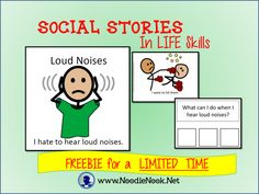Social Stories in LIFE Skills with How To and Resources- www.NoodleNook.Net