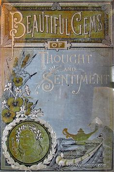 Beautiful Gems of Thought and Sentiment, Poetry book from Victorian era.