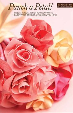 Make a lovely DIY paper bouquet using a 1/2-inch circle punch. We'll show you how!