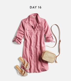 Monthly Stitch Fix Trends- love the casual pink dress for fall or spring Trendy Dresses, Casual Dresses, Casual Outfits, Summer Outfits, Cute Outfits, Casual Shoes, Fall Outfits, Fashion Dresses, Stitch Fix Fall