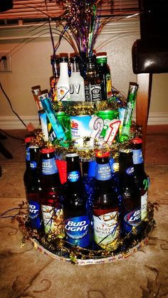 21 liquor cake. The best cake there is. Angry orchard, bud, vodka. Hello HEAVEN. Yes please!