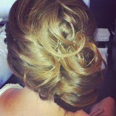 www.harpier.com.au  #bridalupstyle #sidebun #curls #Weddinghair Enquire now For wedding Hair and Makeup!