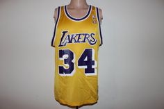 d60545f3902 Vintage Los Angeles Lakers Shaquille O Neal Champion Jersey 44