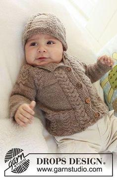 28cc410866e60 Little Chestnut   DROPS Baby 19-17 - Modèles tricot gratuits de DROPS Design