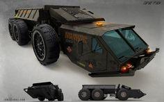 ArtStation - Heavy Cargo Truck concept, Ian Llanas
