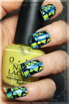 Mosaic finger nails! Awesome! Now I have two things to say about them: 1- how in the heck did they get it so perfect 2- how in the heck do I get mine like that?