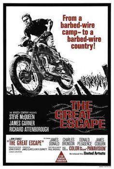 Vintage Motorcycles The Great Escape Movie Poster 27 X Tom Adams, Steve Mcqueen, Aa, Licensed - Classic Movie Posters, Movie Poster Art, Classic Films, Films Cinema, Cinema Posters, Great Films, Good Movies, Love Movie, Movie Tv