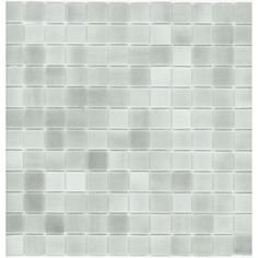 "Elida Ceramica 12-1/2"" x 12-1/2"" Recycled Glass Mosaic Gray Ice Glass Wall Tile, $9.25 psf"