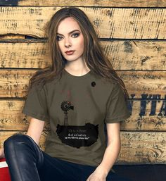 "Unisex T-Shirt with ""Ek is 'n Boer quote....."" Prism Color, Ash Color, Fabric Weights, Quote, T Shirts For Women, Unisex, Cotton, Tops, Products"