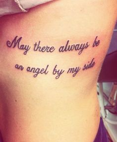 Members that have passed angel quote tattoo, side quote tattoos, angel wing Tattoo Quotes For Women, Good Tattoo Quotes, Tattoo Designs For Women, Rib Tattoos For Women Quotes, Strength Quotes Tattoos, Courage Tattoos, Tattoo Women, Angel Quote Tattoo, Side Quote Tattoos