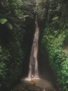 Exploring the Leke Leke Waterfall in Bali, Indonesia. Wanderlust Instagram: small.lena