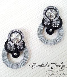 Silver Earrings Clip On Silver Wedding Jewelry, Silver Jewellery Indian, Silver Ring, Silver Earrings, Metal Jewelry, Jewelry Sets, Cleaning Silver Jewelry, Swarovski, Soutache Earrings