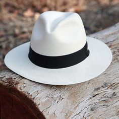 Austral Hats - White Panama Hat with Black Band - Jewelry + Accessories - Hut Summer Hats For Women, Hats For Men, Men Summer, Fashion Boots, Boho Fashion, Womens Fashion, Fashion Black, Fashion Fall, Fashion Ideas