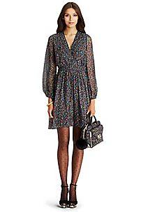 DVF Celia Chiffon Dress