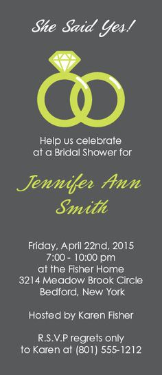 The Wedding Ring Bridal Shower Invitation