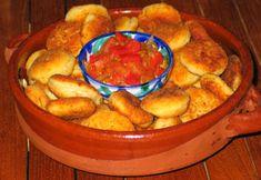 Käse-Kroketten mit Sauce - Mallorca Rezept