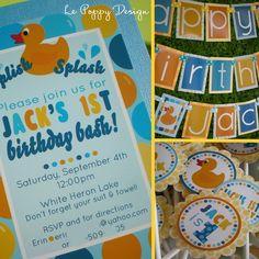Rubber Duck Birthday Party birthday parties, color, duck birthday, rubber duck, 1st birthday, birthday party decorations, ducki parti, birthday ideas, banner