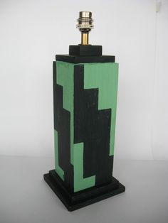TDS - The Design Service - Art Deco Skyscraper stepped painted sofa table lamp light