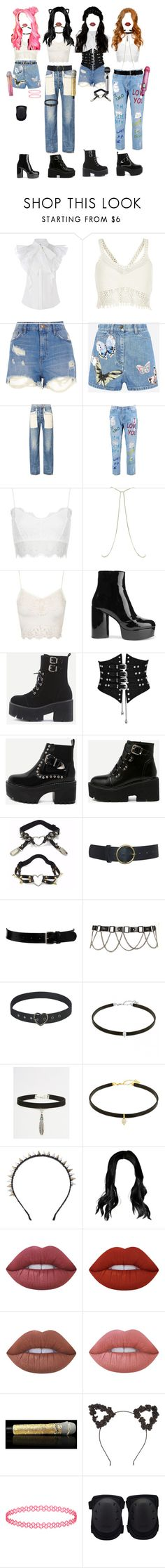 """""""[ live ] G-3 _ MY LOVE ( goodbye stage )"""" by xxeucliffexx ❤ liked on Polyvore featuring River Island, Valentino, Helmut Lang, Boohoo, Topshop, Marc Jacobs, WithChic, Raina, Black & Brown London and ASOS"""