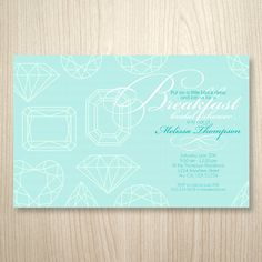 Breakfast at Tiffany's Printable Invitation by socialitepaperworks
