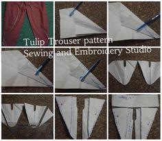 Sewing Paterns, Sewing Patterns Free, Clothing Patterns, Dress Making Patterns, Pattern Making, Tulip Pants, Salwar Pattern, Sewing Collars, Applique Fabric