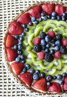 Fruit Tart with Vanilla Pastry Cream Have you ever thought looks so nice, it would be a shame to take a bite.