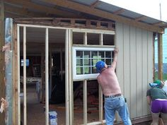 Next was new windows and doors, well the mobile home was made with 1x2. Do you know how hard it is to re-frame for new windows with 1x2 -- what were they thinking?? A 2 x4 is not that much more$$... so that is what we did. We replaced all of the walls,yea we are crazy!! lol  It was so much easier to do all the walls this way and since this will be a rental and we live 3 hours away!!! The MH ended up being a total new home.  The outside is Smart Siding.