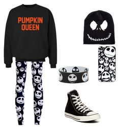 """Trick?  Or Treat? "" by katelyn-dowdy ❤ liked on Polyvore featuring CO and Converse"