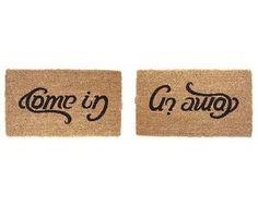 COME IN, GO AWAY DOORMAT | Doormat, Come In, Go Away, Humor | UncommonGoods